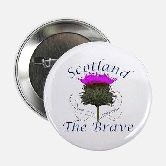 """Scotland The Brave Thistle Design 2.25"""" Button"""