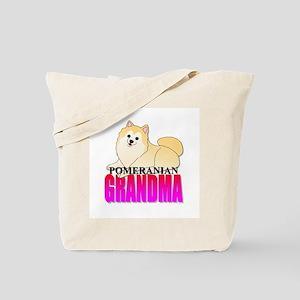 Cream Pomeranian Grandma Tote Bag
