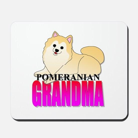 Cream Pomeranian Grandma Mousepad