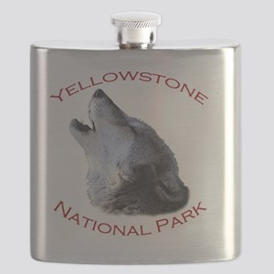 Yellowstone National Park...Wolf Howling Flask