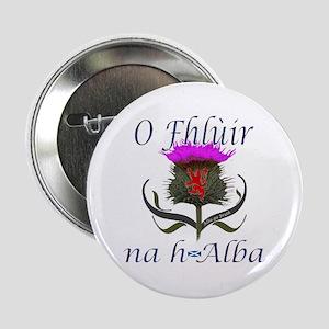 """Flower of Scotland Gaelic Thistle Des 2.25"""" Button"""