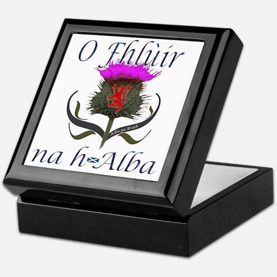 Flower of Scotland Gaelic Thistle Des Keepsake Box