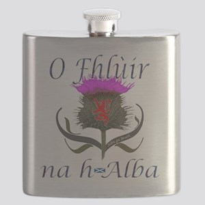 Flower of Scotland Gaelic Thistle Design Flask