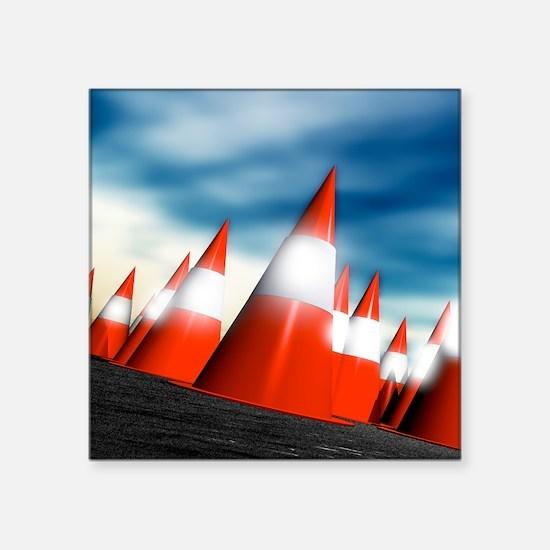 """Traffic cones Square Sticker 3"""" x 3"""""""