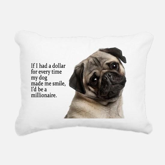 Pug Rectangular Canvas Pillow