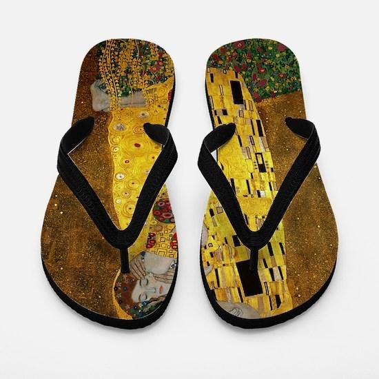 Gustav Klimt The Kiss Flip Flops