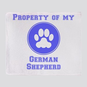 Property Of My German Shepherd Throw Blanket