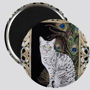 Silver Egyptian Mau Magnet