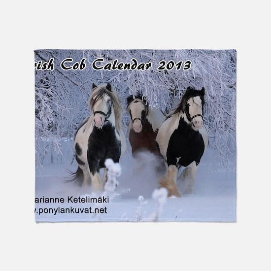 Irish Cob Calendar 2013 Throw Blanket