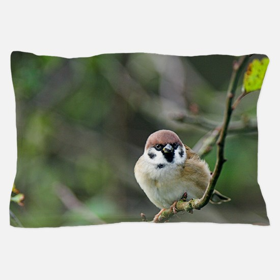 Tree sparrow Pillow Case