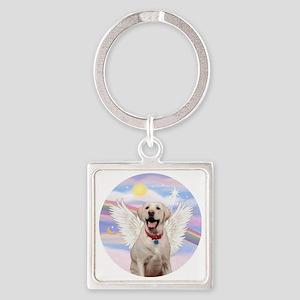 Labrador Angel (Y - Bz) Square Keychain