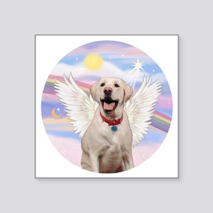 "Labrador Angel (Y - Bz) Square Sticker 3"" x 3"""