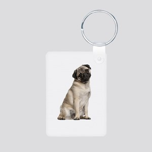 Pug Aluminum Photo Keychain