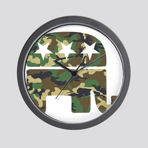 Republican Camo Elephant Wall Clock
