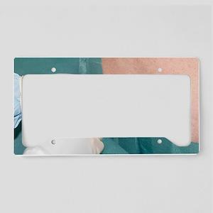 Epidural anaesthetic License Plate Holder