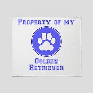 Property Of My Golden Retriever Throw Blanket