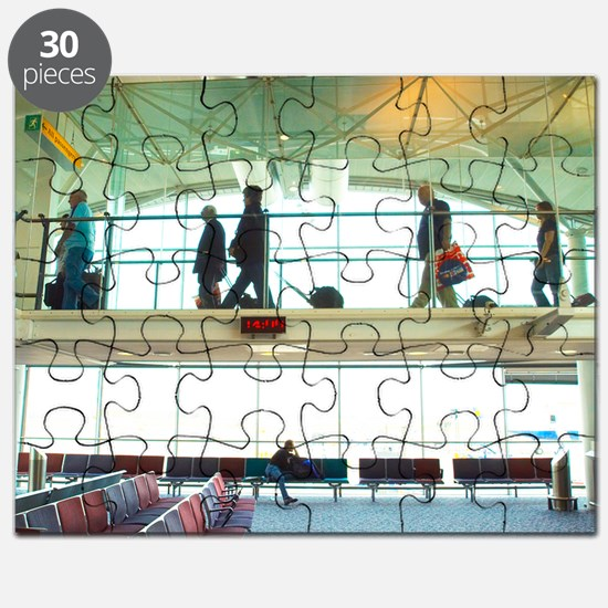Travellers at an airport Puzzle
