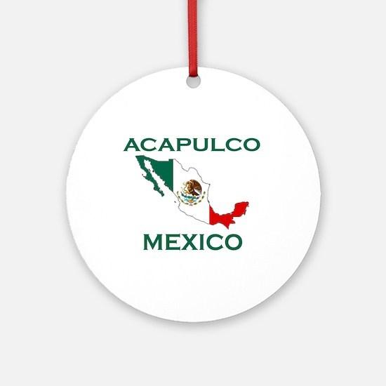 Acapulco, Mexico Ornament (Round)