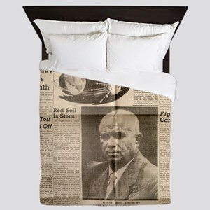 US Newspaper article on Russian space  Queen Duvet