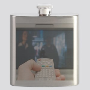 Using a television remote control Flask