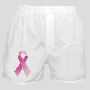 Breast Cancer Awareness Pink Ribbon Boxer Shorts