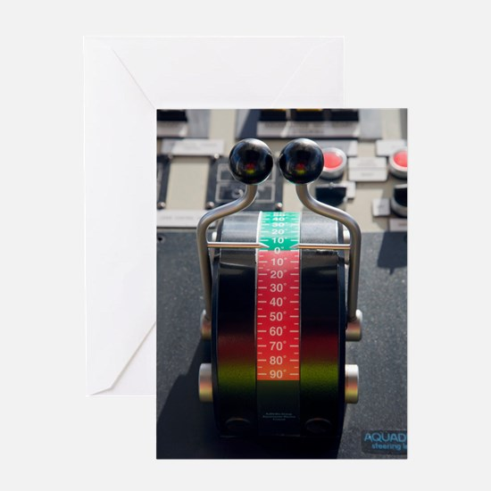 Tugboat pitch controls Greeting Card