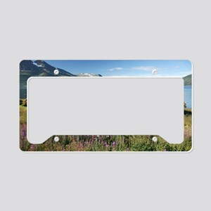 Turf roofed wooden huts, Norw License Plate Holder