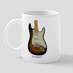"""""""Topography"""" Guitar Mug"""