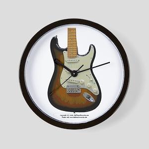 """Topography"" Guitar Wall Clock"