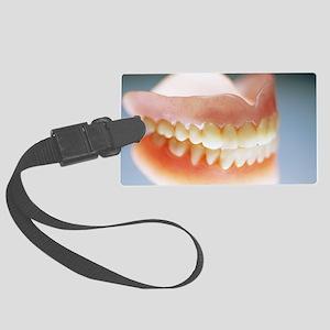 False teeth Large Luggage Tag