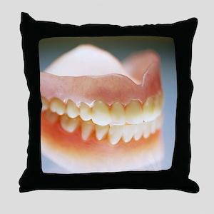 False teeth Throw Pillow