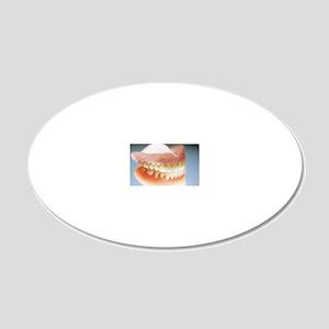 False teeth 20x12 Oval Wall Decal