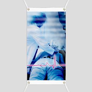 Emergency defibrillation Banner