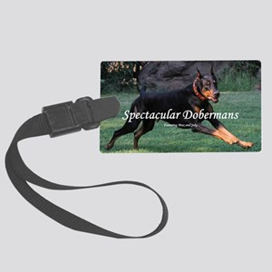 Spectacular Dobermans Large Luggage Tag