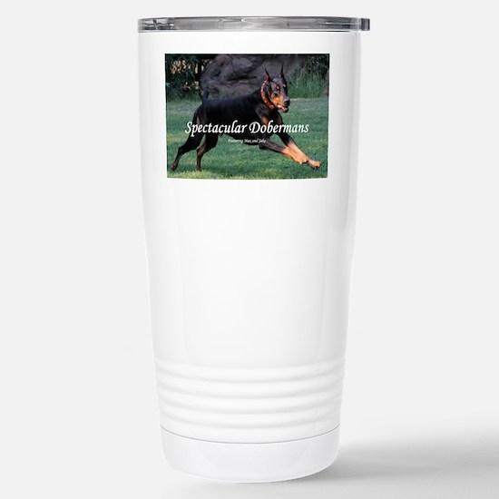 Spectacular Dobermans Stainless Steel Travel Mug