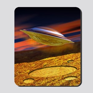 UFO and crop circles Mousepad