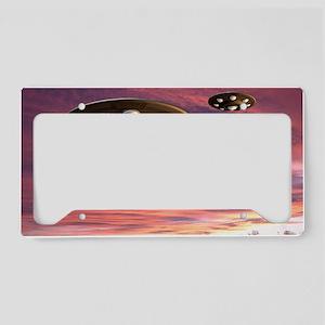 UFO landing, computer artwork License Plate Holder