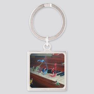 Filling The Air With Heart And Sou Square Keychain