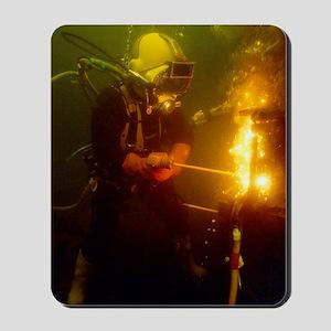 Underwater welding Mousepad