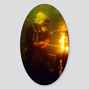 Underwater welding Sticker (Oval)
