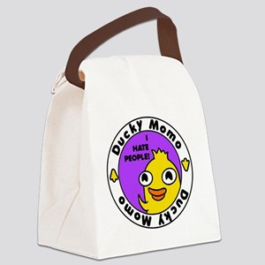 Ducky Momo Hates People! Canvas Lunch Bag
