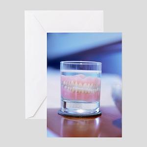 False teeth Greeting Card