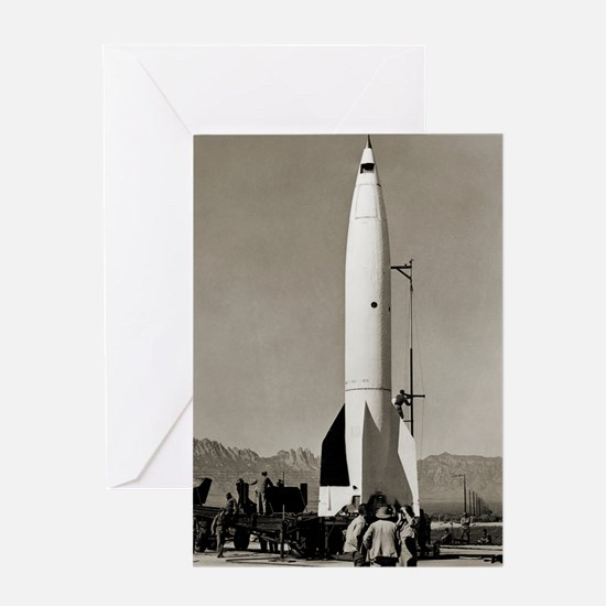 V-2 rocket before early US launch Greeting Card