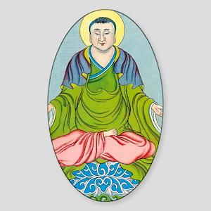 Gautama Buddha, founder of Buddhism Sticker (Oval)