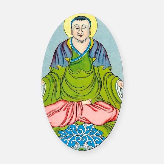 Gautama Buddha, founder of Buddhis Oval Car Magnet