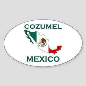 Cozumel, Mexico Oval Sticker