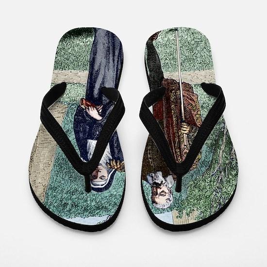 Galileo and his daughter Maria Celeste Flip Flops