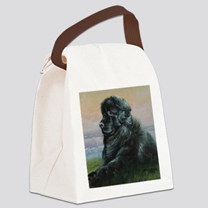 Newfoundland Dog Canvas Lunch Bag