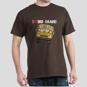 School Bus 3rd Grade Dark T-Shirt