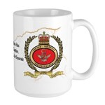 Masonic Badge and Skull Emblems Large Mug
